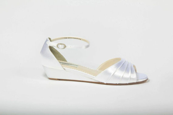 Düğün - SALE Wedge Shoes - Wedge - Wedding Shoes - Wedges- Parisxox By Arbie Goodfellow - Choose From Over 200 Color Choices - Dyeable Shoes