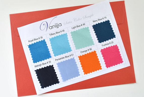 Mariage - Satin Swatch Sheet..Pick 8 colors