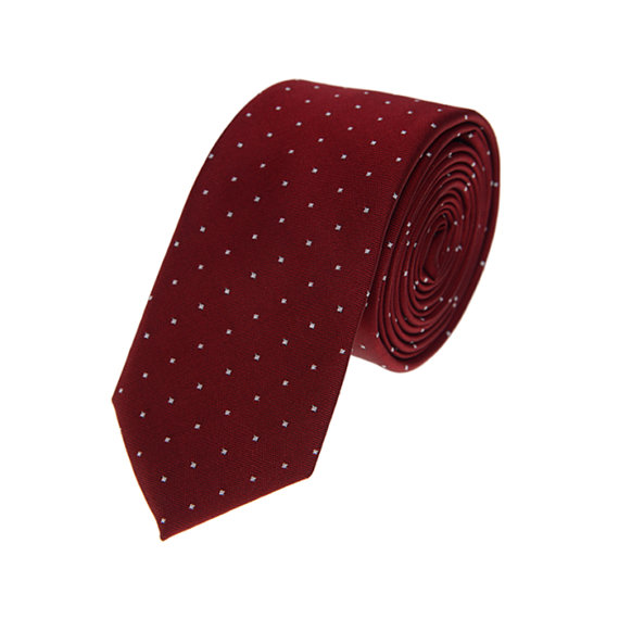 زفاف - Red Dots Ties. Neckties.Red Wedding Ties.Ties for Men.Wedding Ties.Gift for Him.Formal Necktie