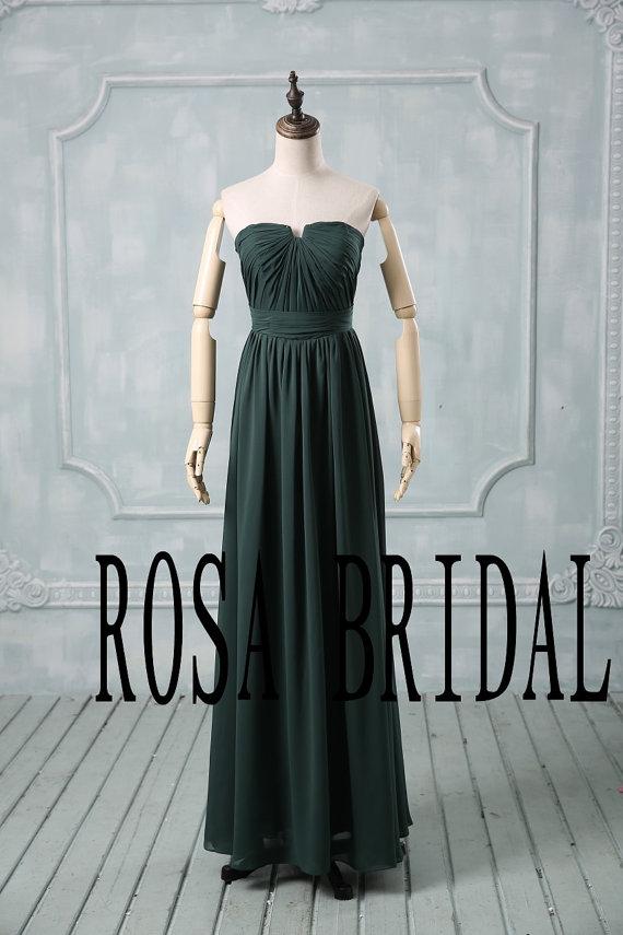 Green Bridesmaid Dress Long Chiffon Bridesmaid Dress Cheap Bridesmaid Dress Wedding