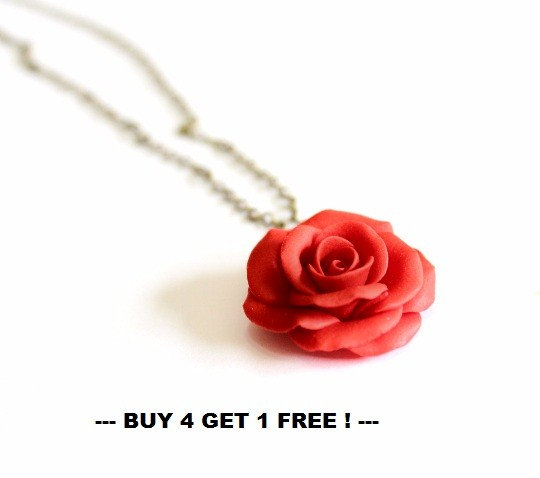 Red rose necklace rose pendant rose charm valentine love red rose necklace rose pendant rose charm valentine love necklace bridesmaid necklace flower girl jewelry red bridesmaid jewelry mozeypictures Choice Image