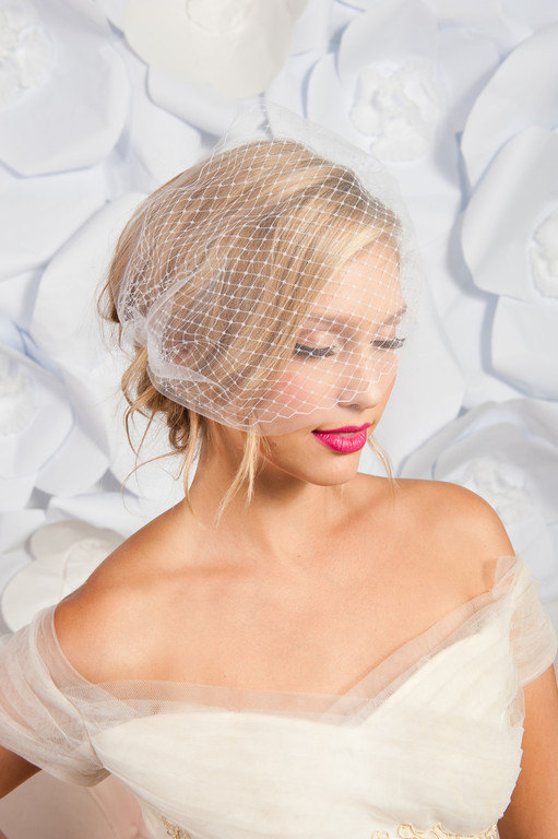 Свадьба - Double layer bandeau birdcage veil, bandeau veil, birdcage veil tulle, birdcage veil two layer - READY TO SHIP