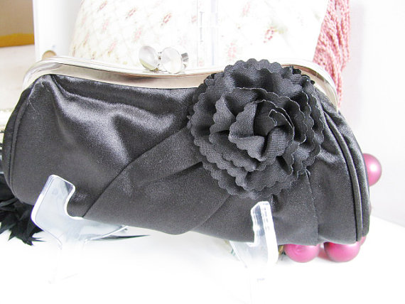 Hochzeit - bridal, clutches, Weddings, bridesmaid, Wedding clutch, Bridesmaid purse, black clutch, wedding purse, Bags and purses, White Clutch