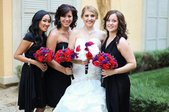 زفاف - Black Convertible Dress Knee Length...67 Colors... Bridesmaids, Wedding, Honeymoon, Quinceanera, Prom, Cocktail Party