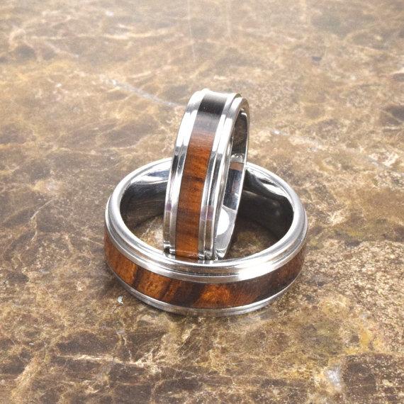 Wedding - Cobalt & Desert Ironwood // Exotic Hardwood Ring // Men's Wedding Band