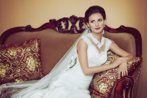 زفاف - Simple Lace Wedding Veil