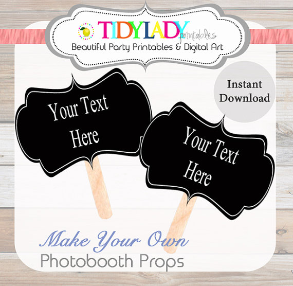 Mariage - Photobooth Prop - INSTANT & EDITABLE - PDF Printable - Wedding diy Photo Booth, Engagement Photos, Baby Photo, Text Prop