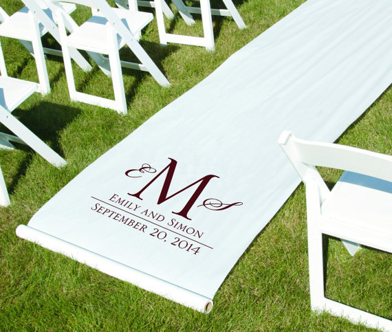 Mariage - Aisle Runner • Wedding Aisle Runner • Personalized Aisle Runner • Monogrammed Aisle Runner•Initial Aisle Runner•Custom Wedding Aisle Runner