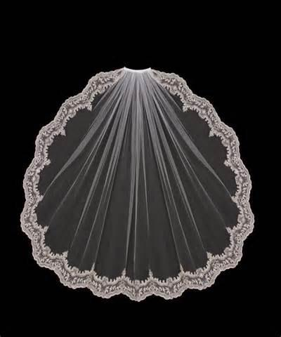 Mariage - Finger tip Light Ivory Veil 38 inches /Soft Tulle /available in white or light ivory/1 tier