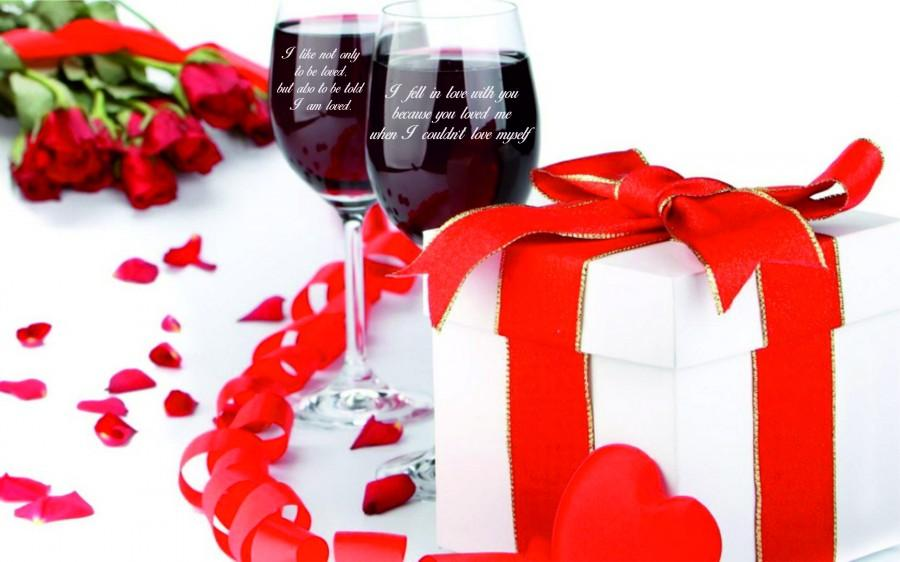 2 Personalized Wine Glasses Holiday Gift Valentine S Day Gifts