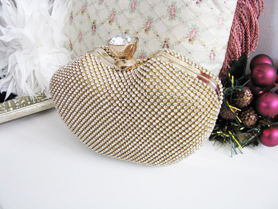 Hochzeit - bags and purses, bridal clutches, bride, formal purse, bridal hand bag, swarovski crystal, rhinestones brooch, bridal purse, wedding clutch