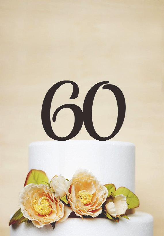 Birthday Cake TopperCustom Topper60 TopperAnniversary Topper A032