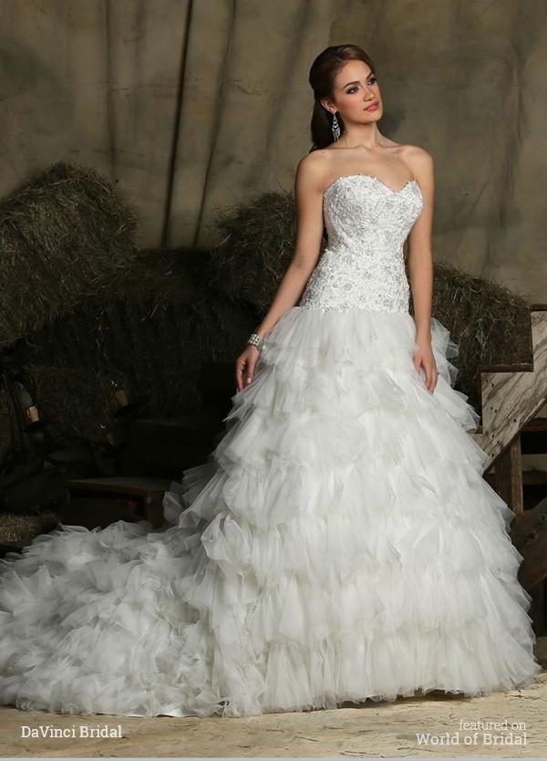 Wedding - DaVinci Bridal Fall 2015 Wedding Dresses