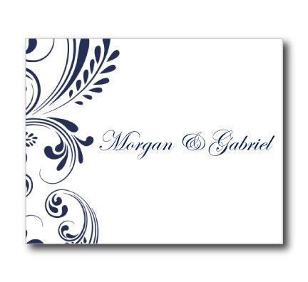wedding thank you card template navy wedding editable text wedding thank you instant download microsoft word