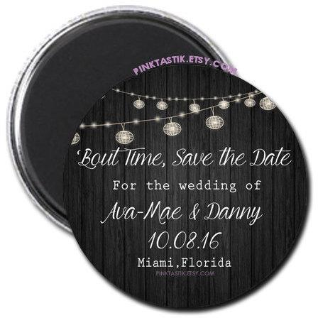 Rustic Wedding Save The Date Magnets Invites Invite