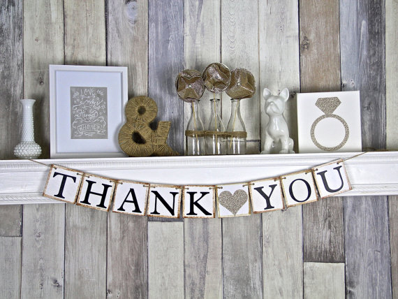 Свадьба - Thank you Banner, Thank you Sign, Thank you photo prop, Wedding thank you photo