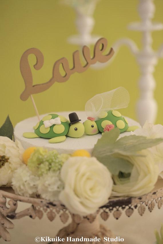 Dekor - Turtles Wedding Cake Topper---k605 #2388416 - Weddbook