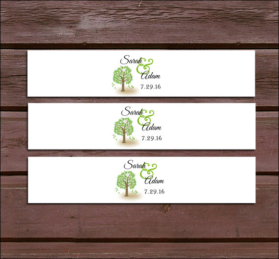 Hochzeit - 100 Tree Rustic Wedding Invitation Belly Bands Wraps.
