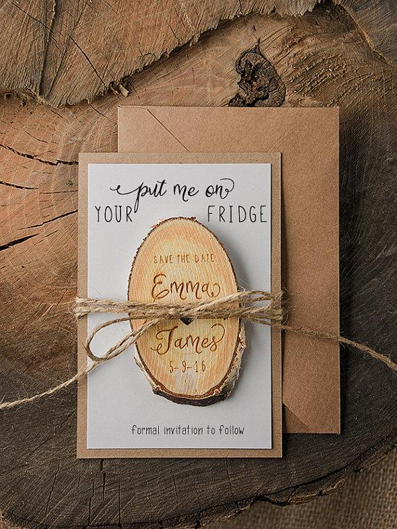 Wood Save The Date Engaved Save The Date Magnets Wooden Save The Date