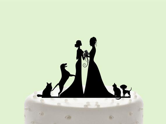 Mrs U0026 Mrs Cake Topper, Custom Wedding Cake Topper, Same Sex Wedding, Cake  Decor,Wedding Cake Topper Silhouette, Gay Wedding