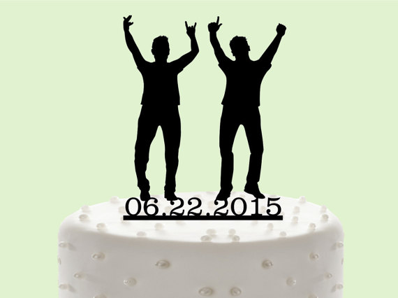 Mr U0026 Mr Cake Topper, Custom Wedding Cake Topper, Same Sex Wedding, Cake  Decor,Wedding Cake Topper Silhouette, Gay Wedding