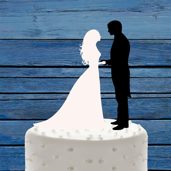 Wedding Cake Topper Black And White MrMrs Bride Groom Decor Custom Acrylic