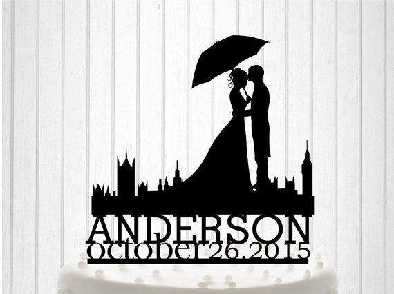 Wedding - English Wedding, Mr&Mrs Wedding Cake Topper, Bride and Groom Cake Decor, Custom Wedding Cake, Acrylic cake Topper, Couple names Topper