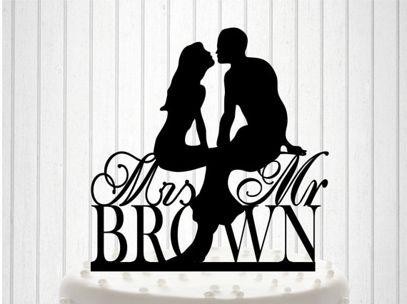 Boda - Personalized with YOUR New Name Wedding Cake Topper, Cake Decor, Custom Wedding Cake Topper
