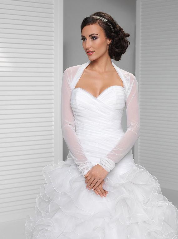 1a675b08de Dress - Long Sleeve Simple Bridal Cover Up #2388582 - Weddbook