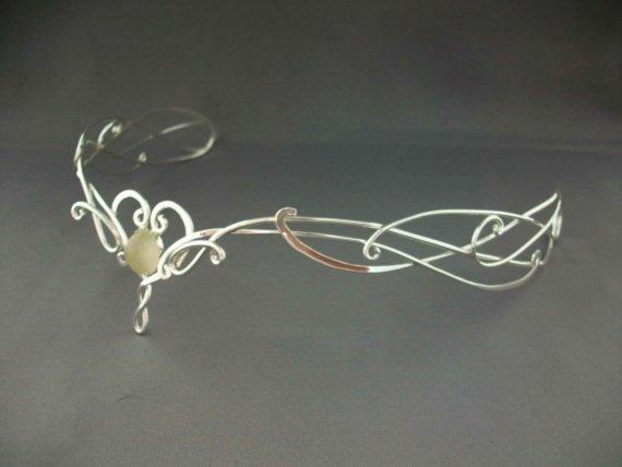 Mariage - Bridal Circlet Ithildin - Celtic Elven LOTR Headpiece Headdress Tiara- Medieval Fairytale Renaissance