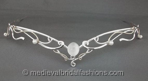 Wedding - Sunrise Circlet in Sterling silver - wedding headpiece tiara inspired by medieval celtic renaissance and LOTR themes
