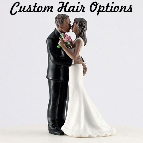 "Hochzeit - Personalized Wedding Cake Topper - Dark Skin Tone - Cheeky ""Main Squeeze"" - Funny Bride and Groom - Weddings - Cake Topper"