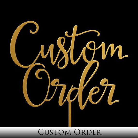Свадьба - Custom Cake Topper -  Keepsake Custom Wedding Cake Toppers