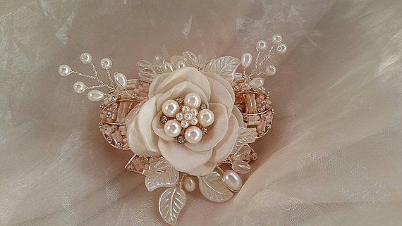 b93013c0d4af ROSE GOLD Hair Clip - Elegant Rose Gold Hair Clip