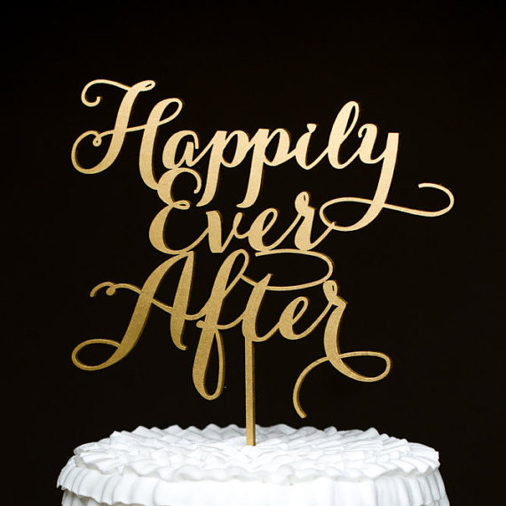 Свадьба - Wedding Cake Topper - Happily Ever After- Soirée Collection