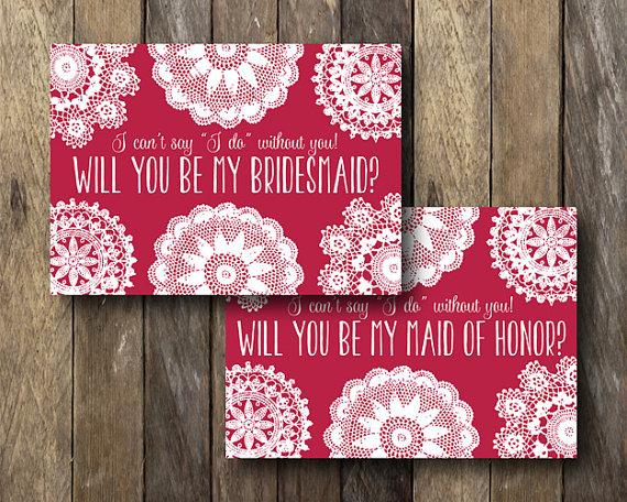 زفاف - Bridesmaid Proposal Cards - Instant Download - Printable Bridesmaid Maid of Honor Card