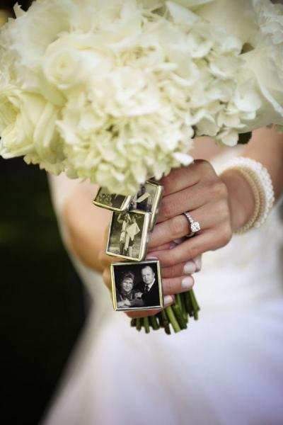 Mariage - 4 KITS to make your own Wedding Bouquet charms -Photo Pendants charms for family photo (includes everything you need including instructions)