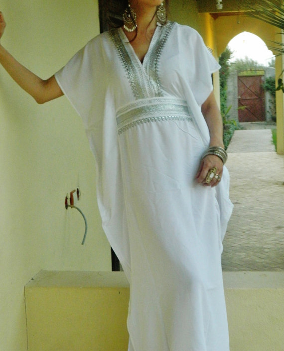 bridesmaid gifts bridesmaid robe white marine one size resort kaftan wholesale moroccan beach wedding bridal shower party
