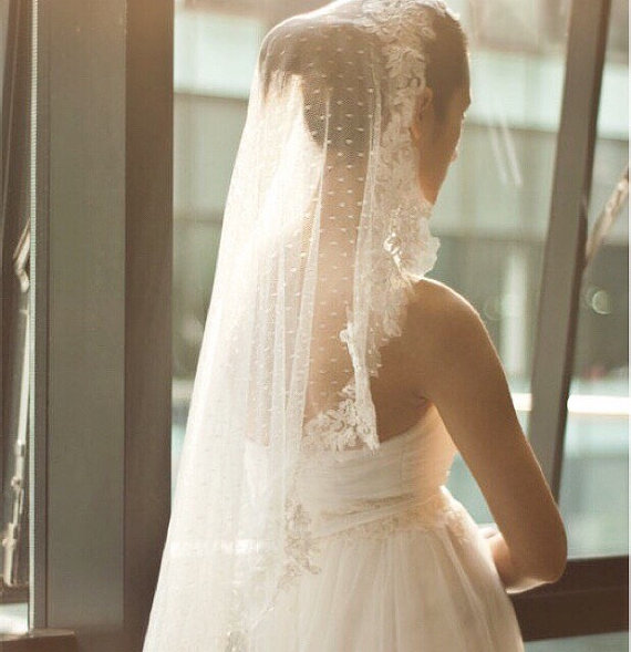24e008381f Ivory Cathedral Length Veil
