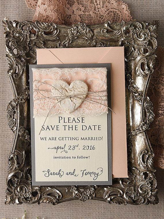 save the date card 20 rustic save the date peach save the date
