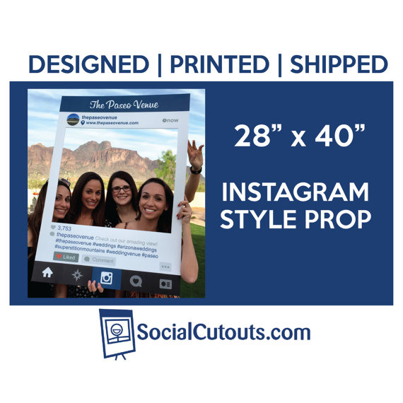 Mariage - Printed & Shipped Instagram Style Cutout Frame