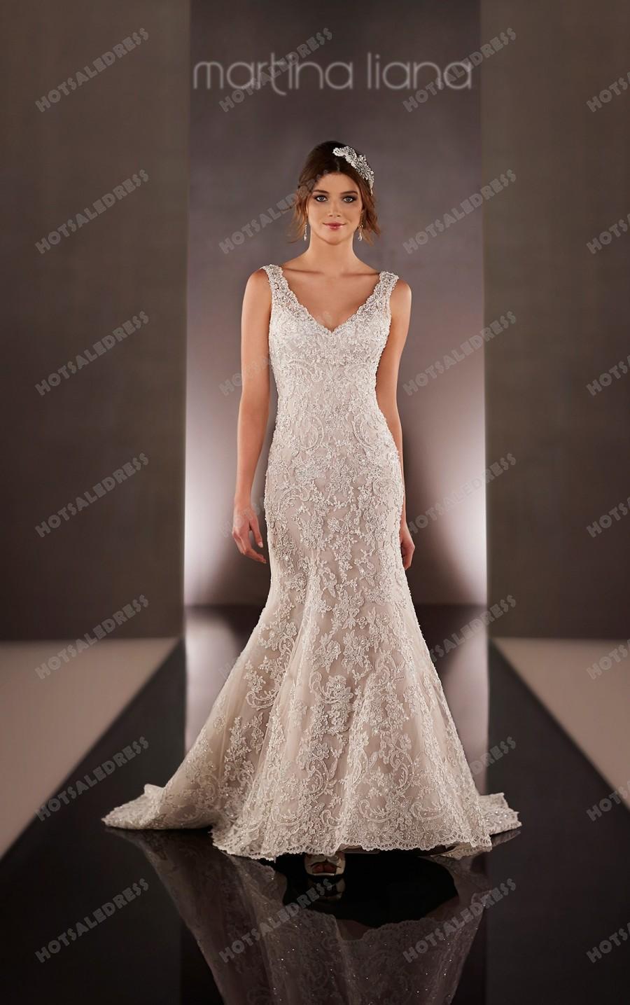 Mariage - Martina Liana Fit And Flare Designer Wedding Dress Style 673