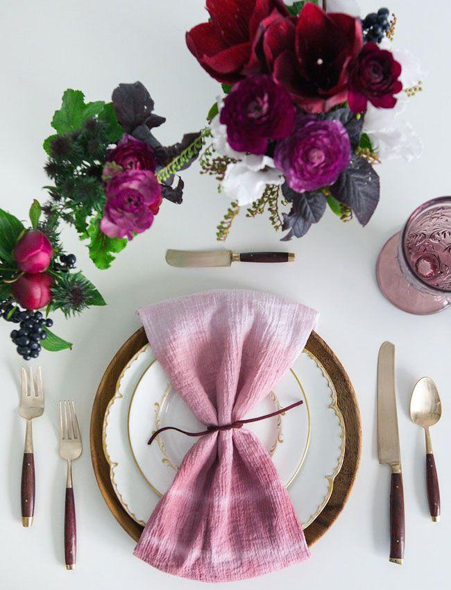 Mariage - Hand-Dyed Napkin Rentals From GATHER Events And Borrowed BLU