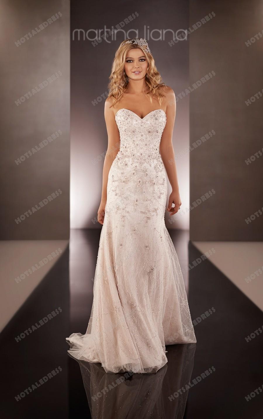 Hochzeit - Martina Liana Beaded Wedding Dresses Style 618