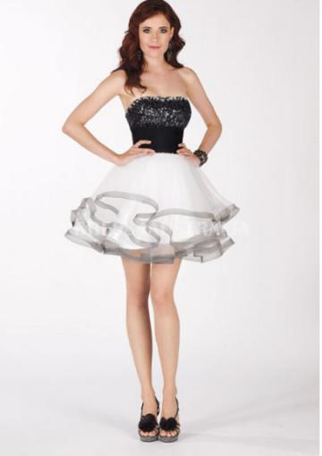 Wedding - Buy Australia 2013 Short Two Tone Cocktail /Homecoming Dress/ Prom Dresses By ALY Claudine 2106 at AU$167.18 - Dress4Australia.com.au
