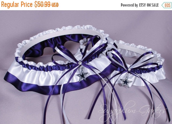 Mariage - Dallas Cowboys Wedding Garter Set
