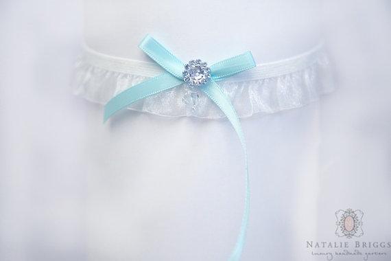 Mariage - A Wedding Garter / something Blue Bow Garter