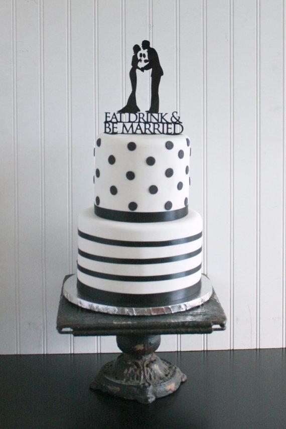 Свадьба - Wedding Silhouette Cake Topper -  Vineyard Wedding - Wine Glasses - Toasting -  MADE TO ORDER