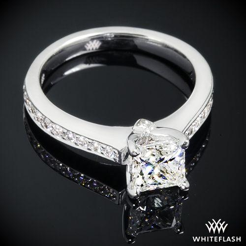 "Wedding - 18k White Gold ""Scarlet"" Diamond Engagement Ring"