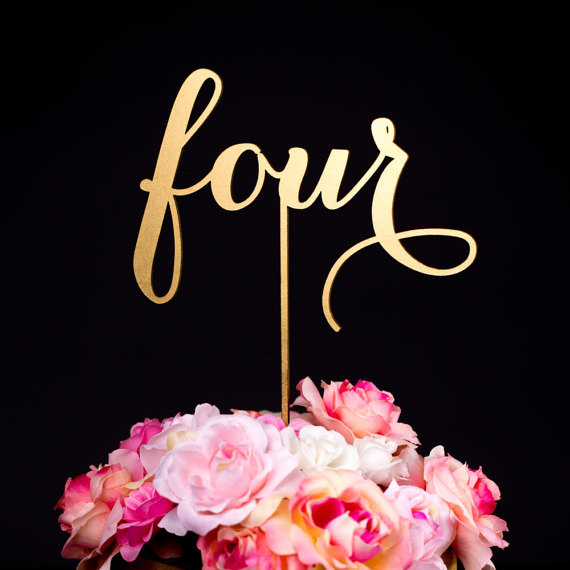 Свадьба - Wedding Table Numbers or Cake Toppers - Soirée Collection
